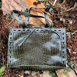 Vintage Liz Claiborne faux crocodile handbag